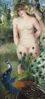 la femme au paon by georges manzana-pissarro