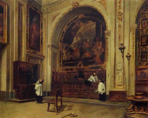 interior de una iglesia by francisco javier amerigo y aparici