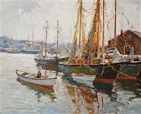 gloucester harbor by camillo adriani