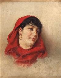 głowa kobiety by aleksander augustynowicz