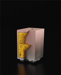 yellow and pink from the archimetric series by ron nagle