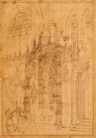 santa teresa de haro catedral de toledo by genaro perez villaamil