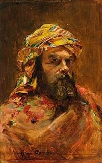 portrait d'un cheik by etienne aimé ponson