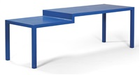 a hard edge table by joep van lieshout