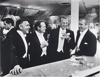 the four kings of hollywood (clark gable, van heflin, gary cooper and jimmy stewart) by slim aarons