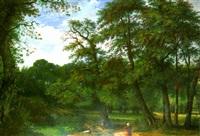 intérieur d'une forêt en bretagne by jean-auguste teste