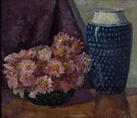 blumenschale mit blauer vase by dora koch-stetter