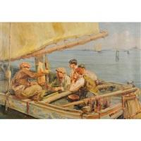 pescatori al largo by angelo brombo
