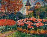 le jardin du château by victor charreton