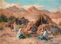 campement dans le sud algérien by edouard verschaffelt