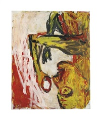 orangenesser (orange eater) by georg baselitz