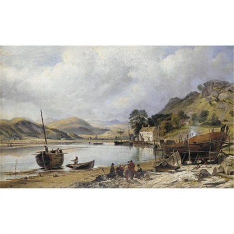 shipbuilding at penmaepool, merioneth by charles tattershall dodd the elder