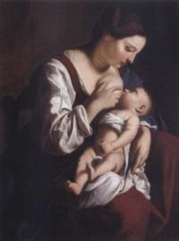 madonna in atto di lattare il bambino by orazio gentileschi