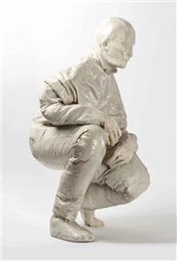 kneeling figure by juan muñoz