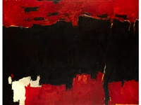 red and black #9 by edward dugmore