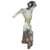 wall torso with raised arm by stephen de staebler
