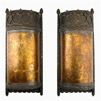 wall sconces (pair) by samuel yellin