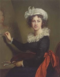 portrait of elizabeth louise vigee-lebrun by v. bianchini