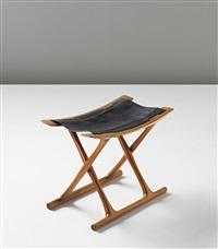 early egyptian folding stool, model no. pj-2000 by ole wanscher
