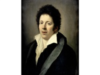 portrait of a gentleman, bust-length, in a black coat by domingos antonio de sequeira