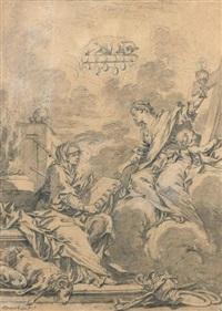 allégorie de l'union de l'ancien et du nouveau testament (qui fecit utraque unum) by françois boucher