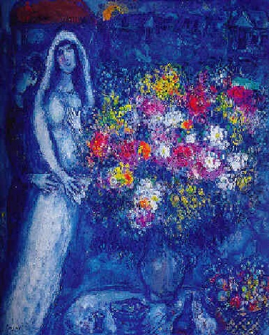 le bouquet de la mari e by marc chagall on artnet. Black Bedroom Furniture Sets. Home Design Ideas