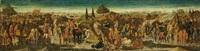 a battle scene: a cassone front by giovanni di ser giovanni di (lo scheggia) simone