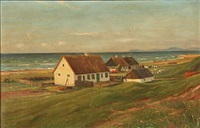 summer day at raageleje, denmark by hans hilsoe