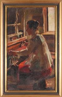 kobieta przy krosnach by stanislaus von korzeniewski