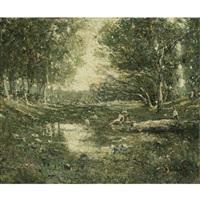 bathers, woodland by ernest lawson