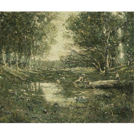 bathers woodland by ernest lawson