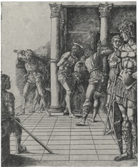 the flagellation: with the pavement by andrea mantegna