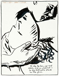 untitled (that's why i want a drink.) by raymond pettibon