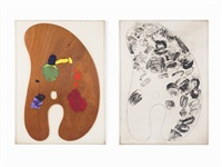 palette i and iii by jim dine