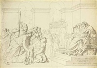 pyrrhus in the house of glaucias by augustin pajou