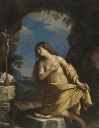 the penitent magdalene by guercino