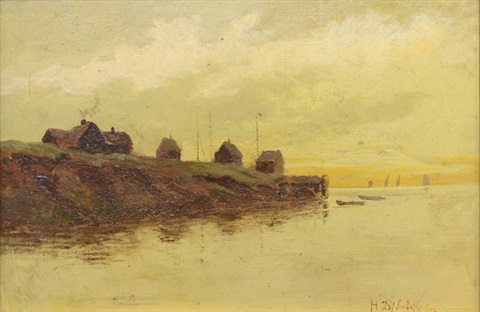 fishing village by nikolai nikanorovich dubovskoy