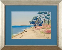 pines and heathers by the sea by soter jaxa-malachowski