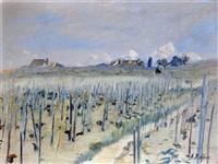 paysan dans les vignes en suisse by alfred rehfous
