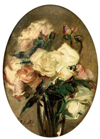 bouquet de roses by jacques emile blanche