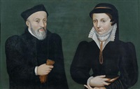 portrait d'un couple vu de trois-quarts by flemish school (16)