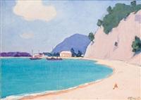 plage et falaise by ivan ivanovich godlevsky