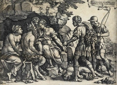 tamiris hiding king cyrus head 2 others 3 works by georg pencz