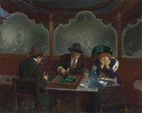 les joueurs de jacquet backgammon by jean béraud