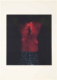 man in red shirt, from: blue jeans by george segal