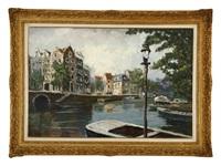 amsterdam canal by kazuyoshi ishikawa