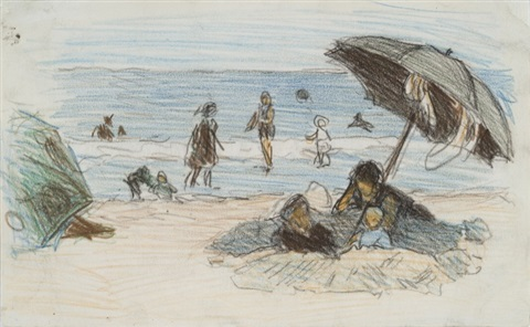 beach scene ii by edward henry potthast