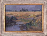 savannah marsh at dusk by hattie saussy
