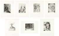 untitled suite (set of 7) by george condo