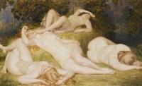 bacchantes endormies by auguste (maurice françois giuslain) léveque